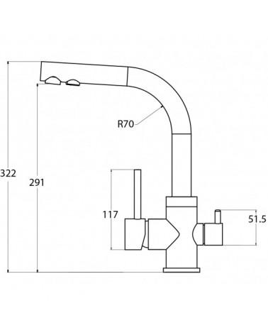 Demineralizuojanti GW-DEMI-L2 filtro kasetė