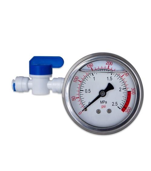 Vandens slėgio matuoklis su jungtimis RO sistemai